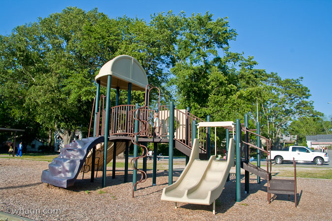 The playground at Memorial Park in Macon, GA