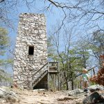 The CCC fire tower that we mistook for the mysterious fort
