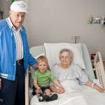 Peepaw, Trey, and Grammae at the Sweetwater Hospital