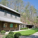 The visitor center & museum at Smithgall Woods State Park