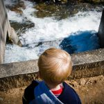 """Trey watches the """"waterfall"""" intently"""
