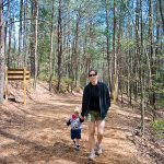 Hiking along the north rim trail at Tallulah Gorge State Park