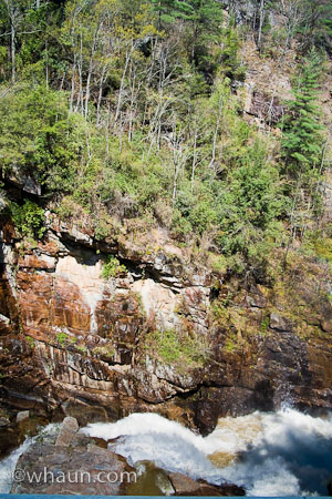 The canyon wall in Tallulah Gorge