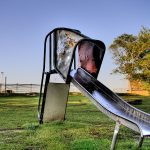 A slide at Doodles Park (HDR image)