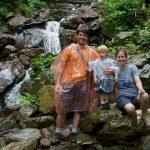 The Hauns at the base of Amicalola Falls