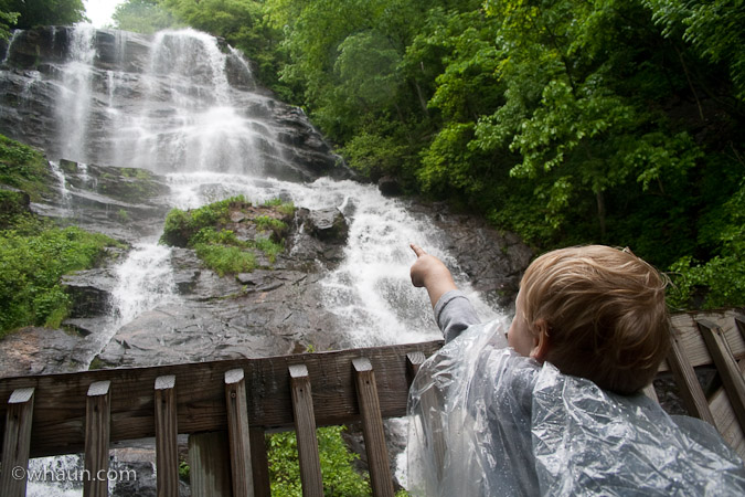 Trey pointed the waterfalls out to everyone else that passed by. Just in case they hadn't noticed them.