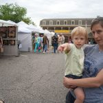 At the Arts Festival in downtown Dahlonega