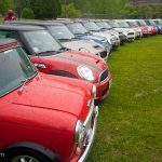 "Minis lined up at Fontana Village during the 7th Annual ""Minis on the Dragon"" event"