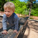Playing on the playground at Magnolia Springs State Park