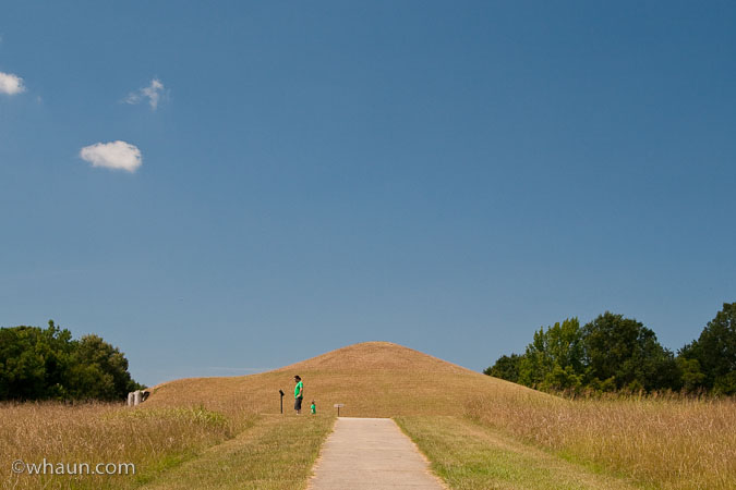 Aaron & Hugo head to the Earth Lodge at Ocmulgee Nat'l Monument in Macon, GA