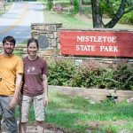 The Hauns at Mistletoe State Park - the last of the 63 parks & historic sites they visited