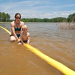 Trey & Heidi in Clarks Hill Lake at Mistletoe State Park