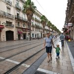 Heidi and Trey roam the streets of Montpellier