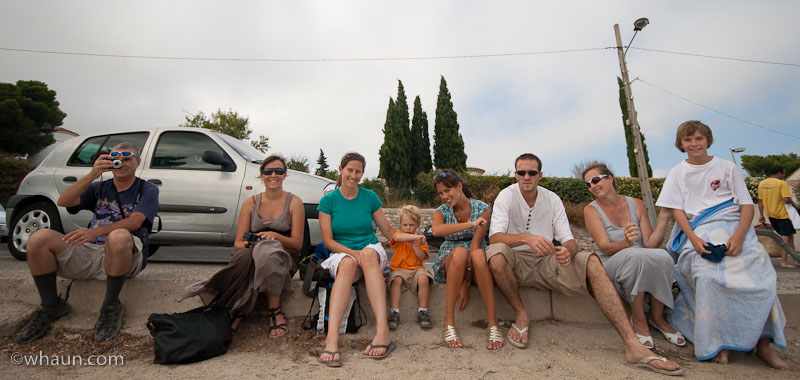The gang in Bouzigues, France