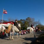 The horses almost lost control during the parade.