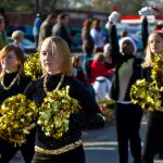 The local highschool band & dancers
